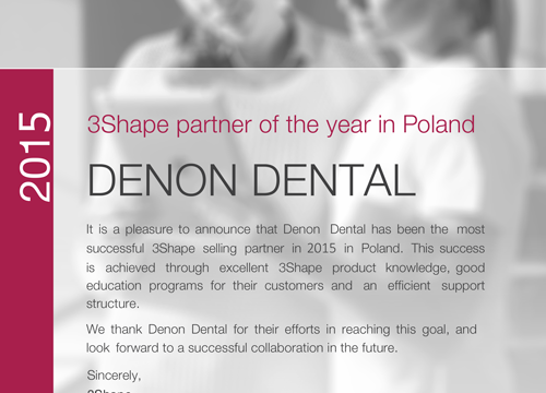 Certificate Denon Dental 2015 1
