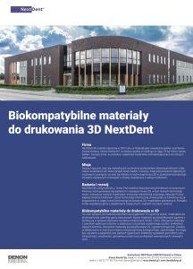 Materiały do drukowania 3D firmy Next Dent (by Vertex Dental)
